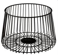 Black Metal Fruit Basket   Funky Chunky Furniture